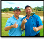 Hacksaw Jim Duggan plays golf with perfect clubs